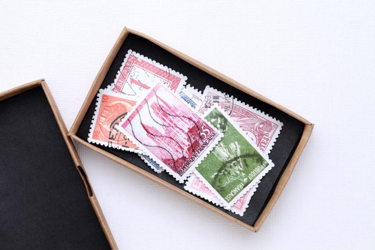 使用済みの郵便切手